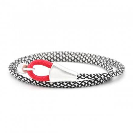 Για το χέρι, Black-White Rope Bracelet