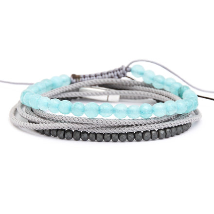 Για το χέρι, Light Grey Set of Bracelets