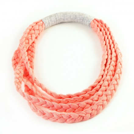 Κολιέ, Kids Braid Pink