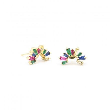 Σκουλαρίκια, , Strass Rainbow Earrings