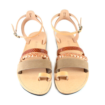 Σανδάλια, Brown Leather Sandals