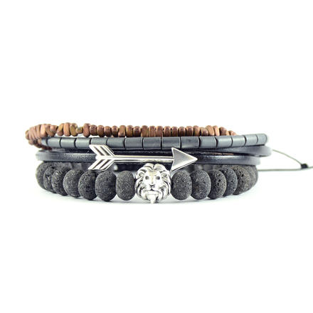 Για το χέρι, Grey Set of Bracelets