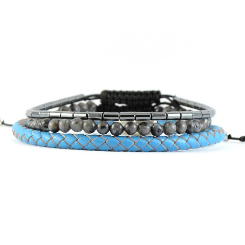 Για το χέρι, Grey-blue Set of Bracelets